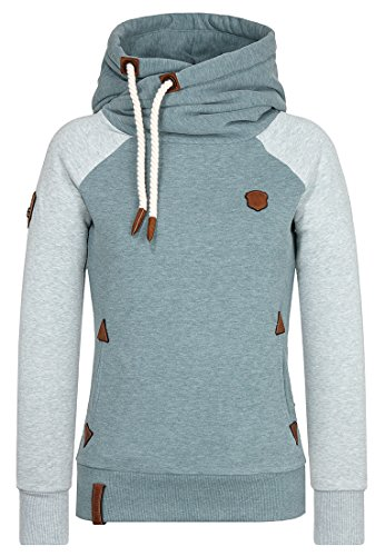 Naketano Female Hoody So ein Otto IV Stormy Sea – Nasty Mint Melange, S (Hoody 4)