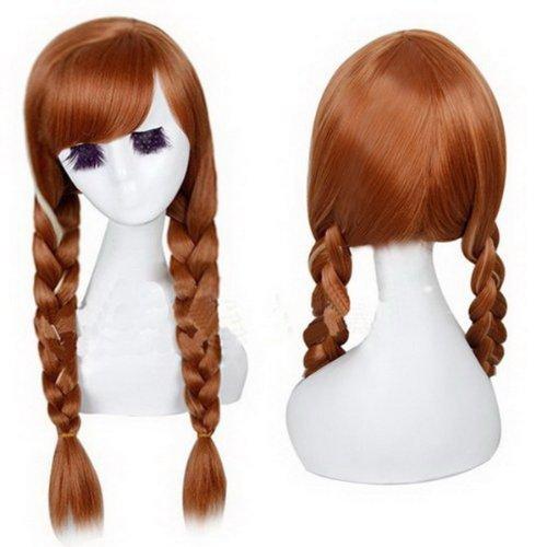 Xcoser Hübsch Party Wig Anna Perücke Haar Tails Hair Style für Cosplay Kostüm (Tails Doll Kostüme)