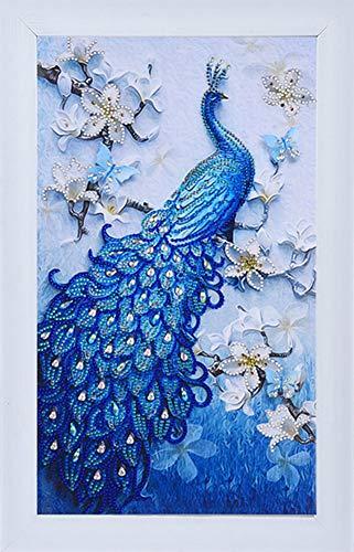 Diamant-Gemälde DIY 5D Special Shape Strass ABEUTY Red Mandala Floral Blumen Teil-Bohrer Kristall Diamant Dotz Kits Peacock 1 -