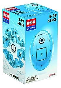 Geomag- KOR Color Juego de construcción, azul, 55 piezas (673)