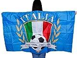 Un poncho qui représente le drapeau Un accessoire de déguisement original pour les supporters de matchs sportifs.D'une grande visibilité, il est idéal pour se faire remarquer depuis les tribunes.Drapé avec manches à enfiler.les couleu, choisir:UF-07 Italie
