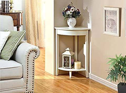 BOBE SHOP- Moderne Mode Wohnzimmer Schlafzimmer Pergolen aus Holz Eckablage Ecke Regal Storage Rack ( Farbe : Weiß )
