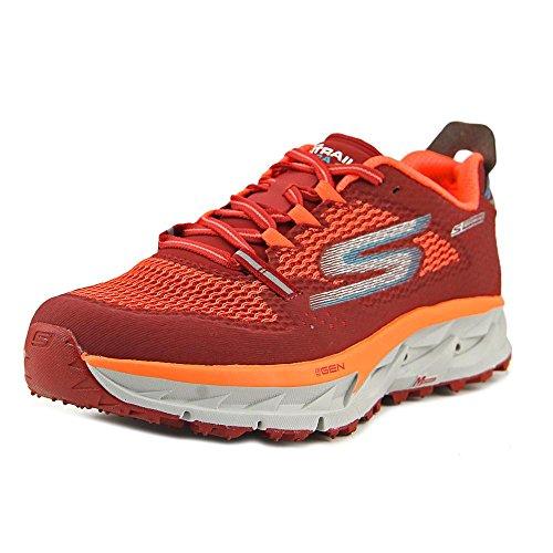 Skechers Go Trail Ultra 4 Hombre US 8 Rojo Corre de Sendero