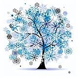 TianMai Heiß Neu DIY 5D Diamant Malerei Kit Kristalle Diamant Stickerei Strass Malerei Kleben Malen Nach Zahlen Stich Kunst Kit Zuhause Dekor Mauer Aufkleber - Vier Jahreszeiten Baum Winter, 30x30cm