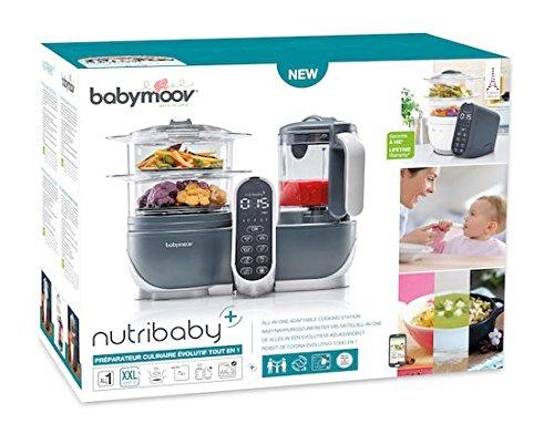 Babymoov Nutribaby Plus industrial grey - Babynahrungszubereiter, schonendes Dampfgaren, Mixen, Sterilisieren, Aufwärmen, 2200ml Fassungsvermögen - 7