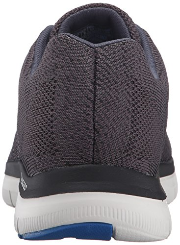 Skechers Flex Advantage 2.0-Golden Point, Baskets Basses Homme Noir