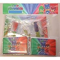 ALMACENESADAN 0481, Pack Invitados Fiestas y Cumpleaños PJ Masks, 12 caretas, 12 Conos