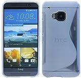 HTC One M9 Silikon Hülle Tasche Case Gummi Schutzhülle Zubehör in Transparent @ Energmix