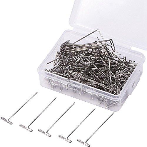SODIAL T-pasadores de acero T-Pins 1-1/2 pulgadas, de plata, 200 Paquete