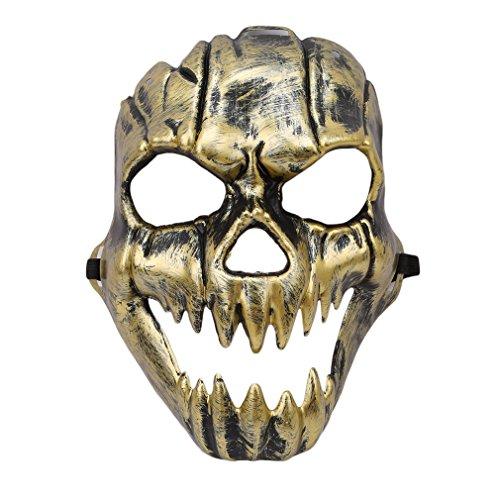 ustume Holloween Party Maske Gothic Scary Totenkopf mit gekreuzter Knochen Maske,Wie Das Bild,24*18cm (Scary Gothic Bilder)