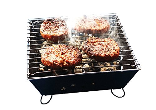 Small Portable BBQ by Fresh Grills. Folding Portable BBQ for Camping. Foldable Barbecue Fire Pit Ideal for Backpacking and Camping