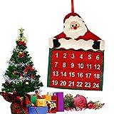 Mucjun 2 pcs Noel Calendrier de L'Avent Compte A Rebours Pere Noel Tissu Noel Decor Poches Cadeau