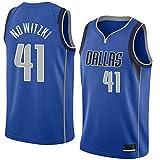 MTBD Dirk Nowitzki Dallas Mavericks # 41 Herren-Basketball-Trikot Herren-Fans Unisex-Basketballtraining