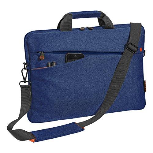"""PEDEA Notebooktasche """"Fashion"""" für 15,6 Zoll (39,6cm) mit Zubehörfach, Schultergurt, blau"""