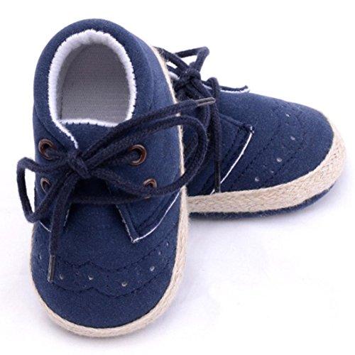 Unisex Baby Sneakers, OverDose Neugeborene Säuglings Baby-Mädchen Jungen Krippe Schuhe Weiche alleinige Anti Rutsch Turnschuh Schuhe Blau