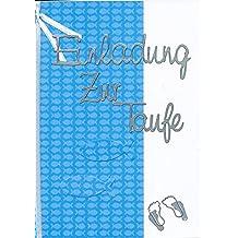 Einladungskarten Zur Taufe Kindtaufe Jungen Zum Selbst Gestalten Für 8  Karten Inc. Zubehör + Umschlag