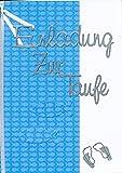 Einladungskarten zur Taufe Kindtaufe Jungen zum selbst Gestalten für 8 Karten inc. Zubehör + Umschlag Format C6