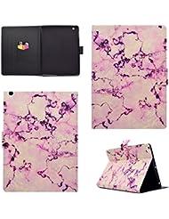 Coque Apple iPad 2/3/4, BONROY® Smart Case Coque pour Apple iPad 2/3/4 TPU Souple Bumper Fermeture Magnétique avec Function Veille Automatique Etui Housse Case Cover pour Apple iPad 2/3/4 - marbre rose