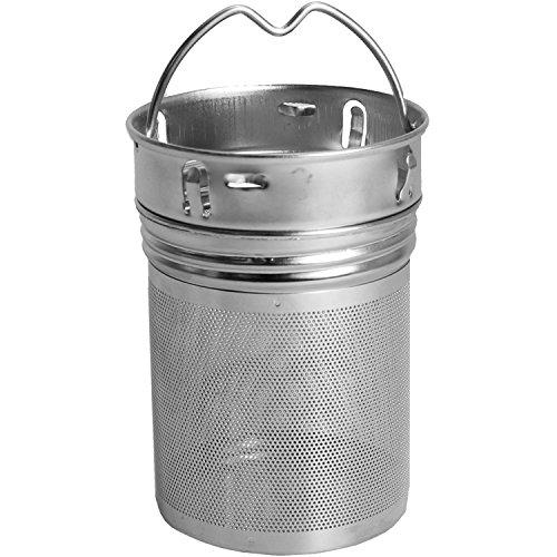amapodo Teesieb Edelstahl für losen Tee - Teefilter für Teeflasche, Teekanne, Trinkflasche, Glas-Flasche - Teeei Metall Filter Sieb-Einsatz fein mit Henkel