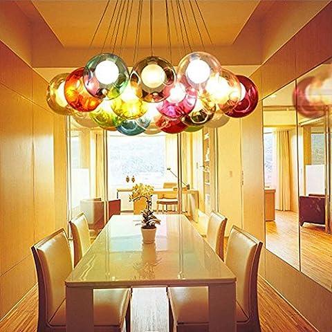 Nuovo Creative stile nordico 19palle bolla di vetro lampadario a