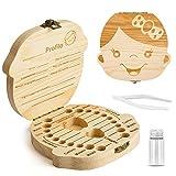Denti salva box per bambini e bambina (italiano), Bambini in legno ricordo regalo, Accumulazione dei denti (Ragazza)
