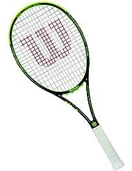 Wilson Raqueta de tenis unisex, Juego de ataque de línea de fondo, Para principiantes y expertos, Blade 101 L, Medida 3, Negro/Lima