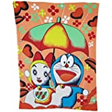 MY NEW BORN BRAND BABY's Soft Touch Polar Fleece Baby Blanket Cum Wrapping Sheet For Multipurpose Use (MN_FLEECE_Doraemon_Orange)