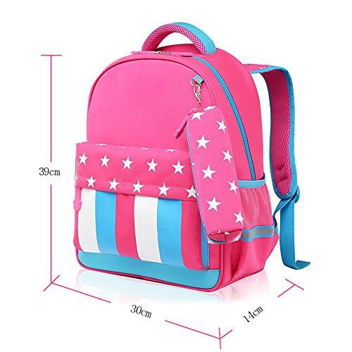 07f86f27c7815 KINDOYO Wasserdichter Rucksack für Kinder Unisex Schultaschen Jungen  Mädchen für Reisen