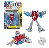 TRANSFORMERS Cyberverse - Robot action Starscream avion 15cm - Jouet transformable 2 en 1