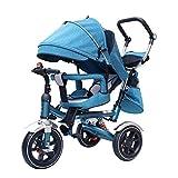 4 In 1 Kinder Dreirad Kinder Hand Push Dreirad Hinterrad Mit Bremse Einstellbarer Lenker Kinder Dreirad,b