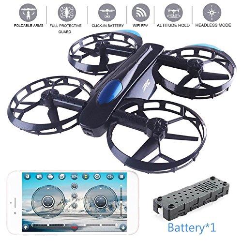 JJRC Drone, Selfie Drohne mit 720P Kamera, Wifi FPV Drone (Höhe halten, 5 Minuten Flugzeit, G-Sensor-Modus, Headless-Modus) Klappbare Arms Pocket Drohne H45 für Kinder Spielzeug by LITEBEE (Drohne Für Smartphone)