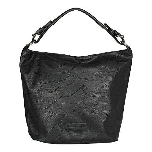 Fritzi aus Preußen Verena Patchwork Shopper Tasche 30 cm Black