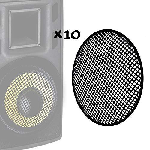 ITC 10 Stück Schutzgitter für Lautsprecher 8
