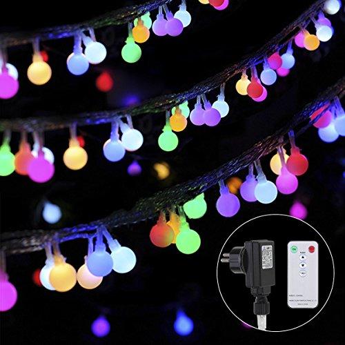 Catena luminosa colorata! 13m 100led catena multicolori di luci led, stringa luci di stelle luce con telecomando, lampadine led per interno/esterno, giardino, feste, natale, matrimonio; albero di natale, terrazzo, cortile, prato ecc.