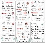 Liebchen & Co Gästebuch Hochzeits Sticker - 133 Sticker - Wunderschöne Watercolors und liebevolles Handlettering Design