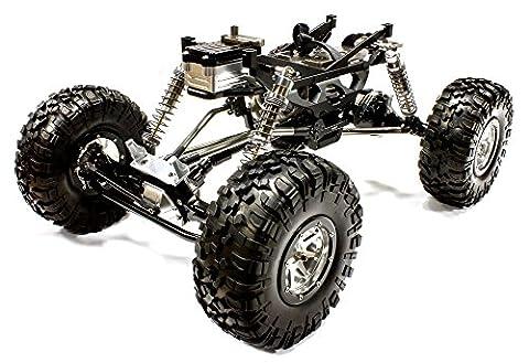 Integy Hobby RC Modell c24966blackt1V2Billet Bearbeitete 1/10Trail Racer 4WD All Terrain Maßstab Crawler ARTR