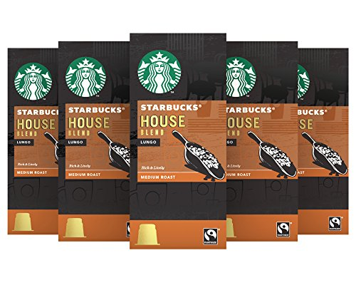 Order Starbucks House Espresso Capsules Nespresso* Compatible (Pack of 5, Total 50 capsules) from Starbucks