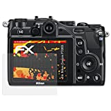 atFoliX Folie für Nikon Coolpix P7000 Displayschutzfolie - 3 x FX-Antireflex-HD hochauflösende entspiegelnde Schutzfolie