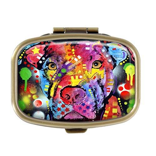 Sherman M4105 Tablettenbox Pit Bull Natural Eco Custom Bronze Pocket Medizin Etui rechteckig Pillendose Tablettenhalter Pillendose Deko Box Geldbeutel -