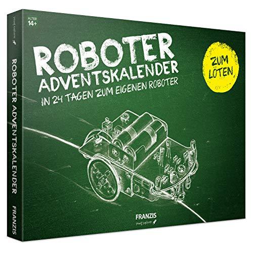 FRANZIS Roboter-Adventskalender 2019 | In 24 Schritten zum eigenen Roboter | Einstieg in elektronische Schaltungen | Zum Löten | Ab 14 Jahren