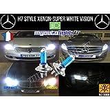 Ampoules H7 Blanc Look Xénon - Mercedes Classe C W204 Break
