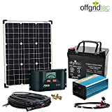 komplette 220v solaranlage t v akku 100w. Black Bedroom Furniture Sets. Home Design Ideas