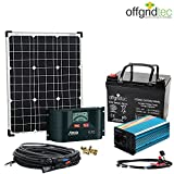 Solaranlage Autark XS-Master 50W Solar - 300W AC Leistung 12V 230V