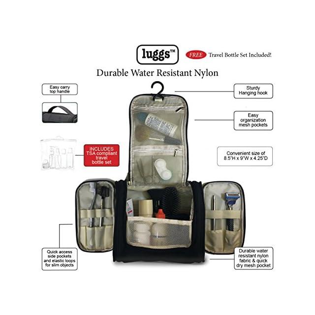 Trousse de Toilette, Bouteille de Voyage pour produits Beauté et Douche - hommes et femmes | organisateur imperméable pour les accessoires de bain, Kit de rasage et liquides | approuvé par la TSA