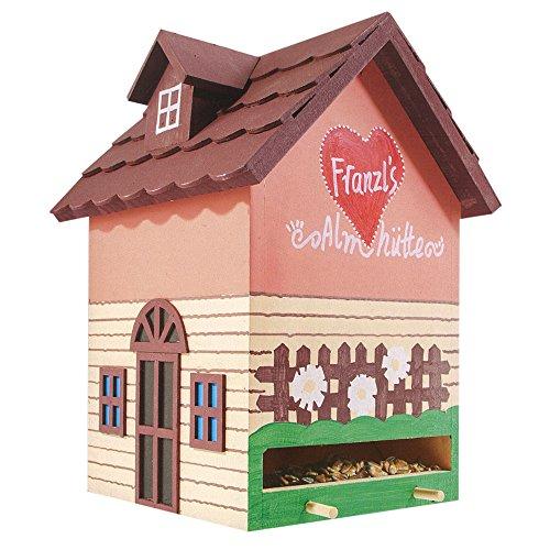 Vogelvilla für Garten, Terrasse oder Balkon - Vogelhaus, Vogelfutterhaus oder Nistkasten für Vögel (Futterhaus Franzl´s Almhütte)