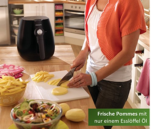 Philips Airfryer HD9220/20 Heißluftfritteuse (ohne Öl, das Original für 1-2 Personen) schwarz - 3