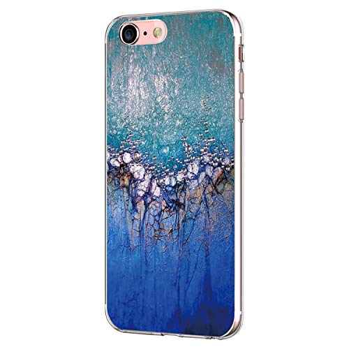 el mit iPhone 7 Hülle iPhone 8 Hülle Silikon Ultra dünn Transparent Handyhülle Durchsichtige Rückschale TPU Schutzhülle für Apple iPhone 7/8 Cover Marmor (13) ()
