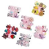 GOOTRADES 6 Set Haarnadel Baby Mädchen Haarspange Bogen Blume Mini Barrettes Sterne Kinder Kleinkind - 6 Stk/Set