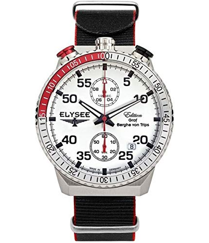 Elysee Reloj los Mujeres GRAF Berghe Von Trips Rally Timer I Cronógrafo 80516N