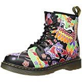Dr. Martens Junior Multi Delaney Psych Tattoo Leather Boots